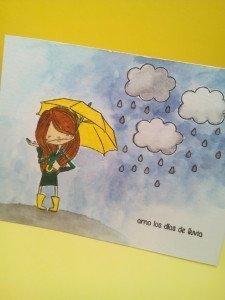 amo los dias de lluvia