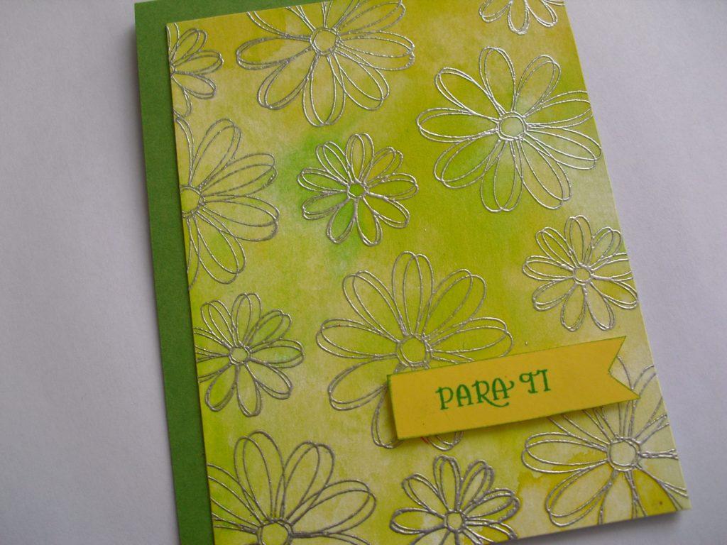 tarjeta dia de la madre verde