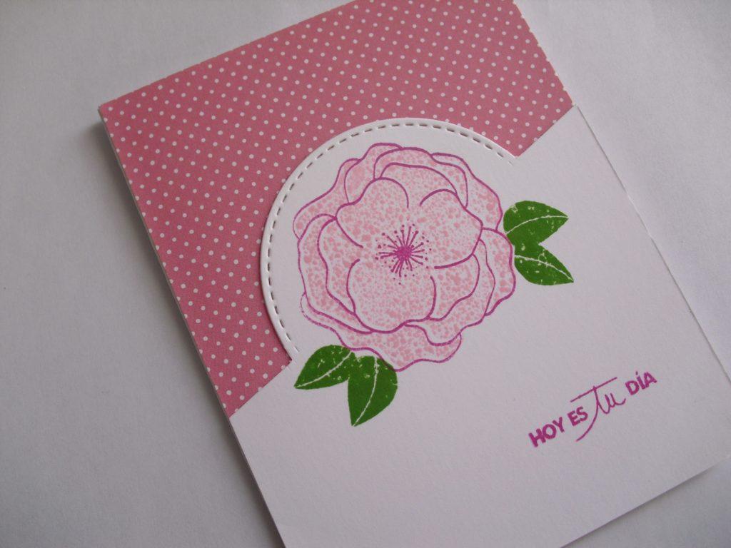 tarjeta dia de la madre rosa
