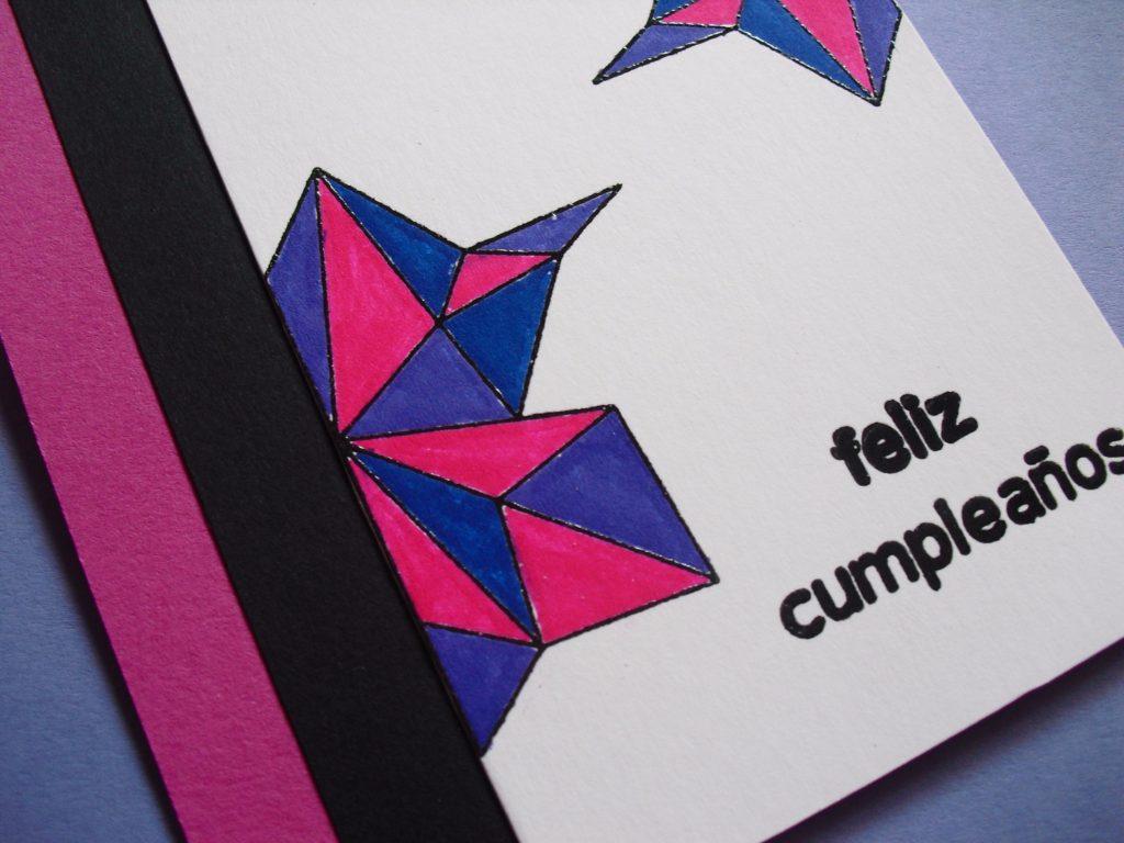 detalle embossing tarjeta geometrica