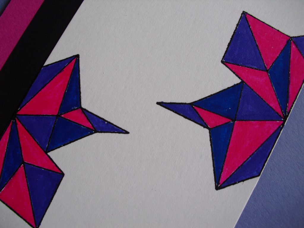 detalle colores tarjeta geometrica