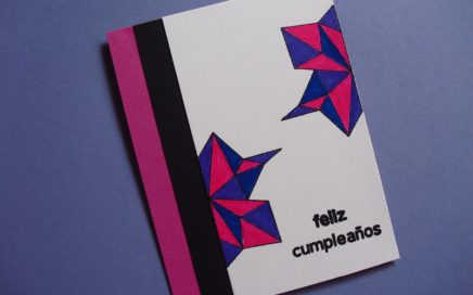 Tarjeta geométrica con embossing