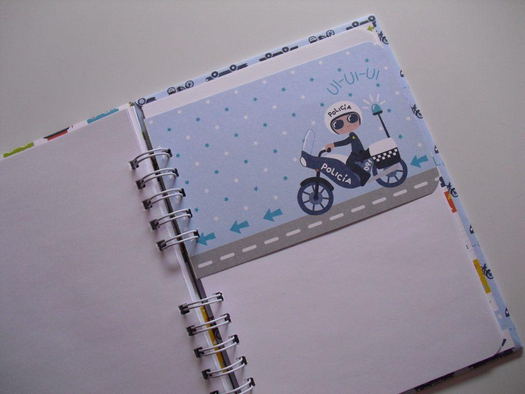 separadores cuaderno sobre ruedas anita y su mundo