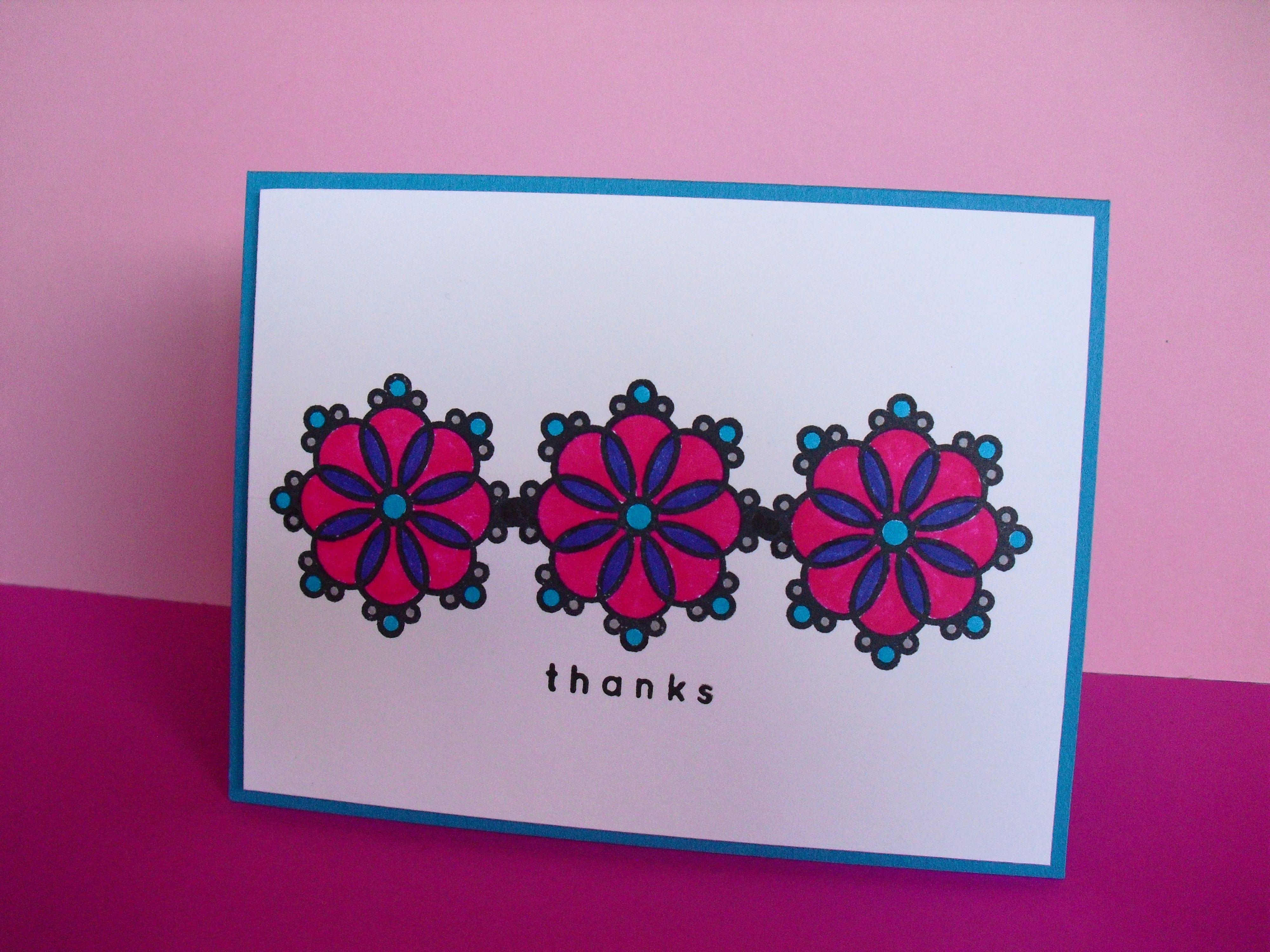 Tarjeta de agradecimiento Snowflakes