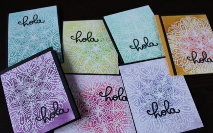 Tarjetas con embossing y distress