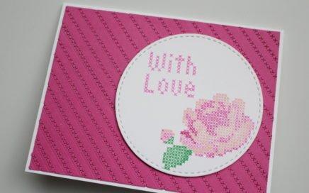 Reto de mayo Entre chocolate y scrap: tarjeta rosa