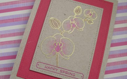 Tarjeta de orquídeas Happy Spring