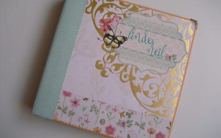 Álbum de boda con encuadernación en espina