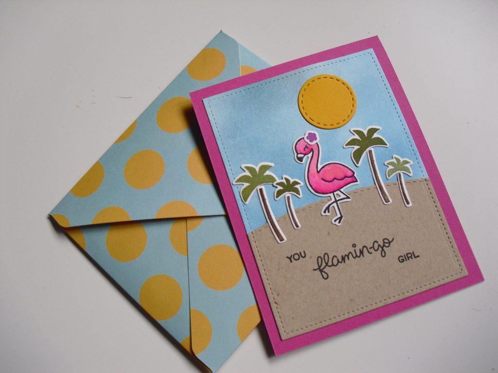 primera tarjeta you flamingo girl