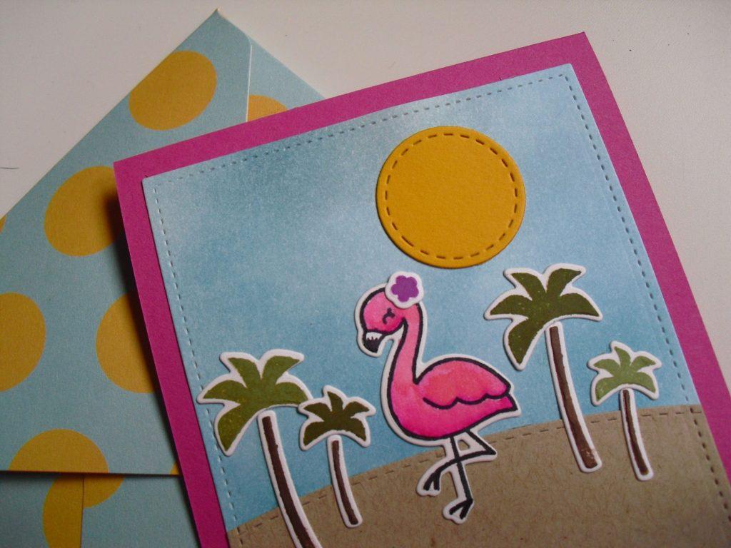 detalle colores tarjeta you flamingo girl