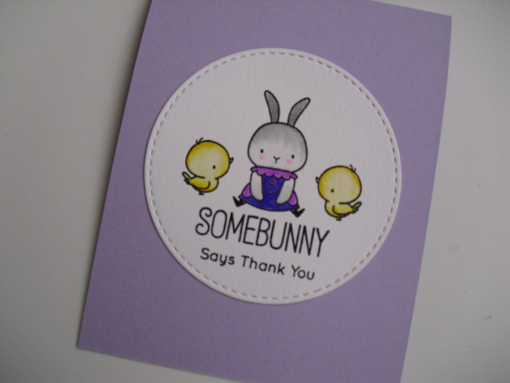 primera tarjeta somebunny my favorite things