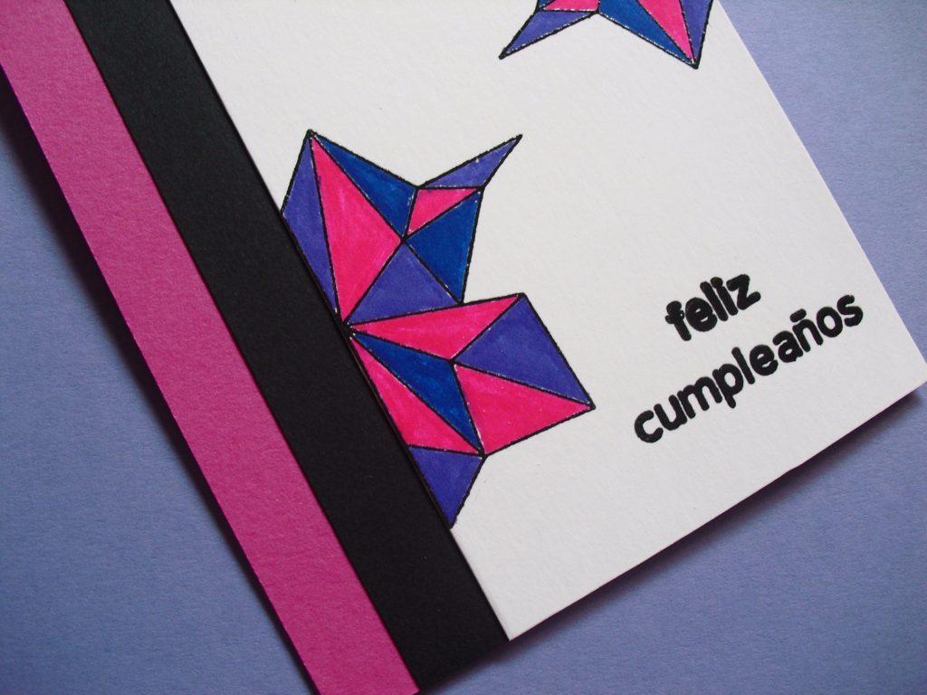 detalle titulo tarjeta geometrica