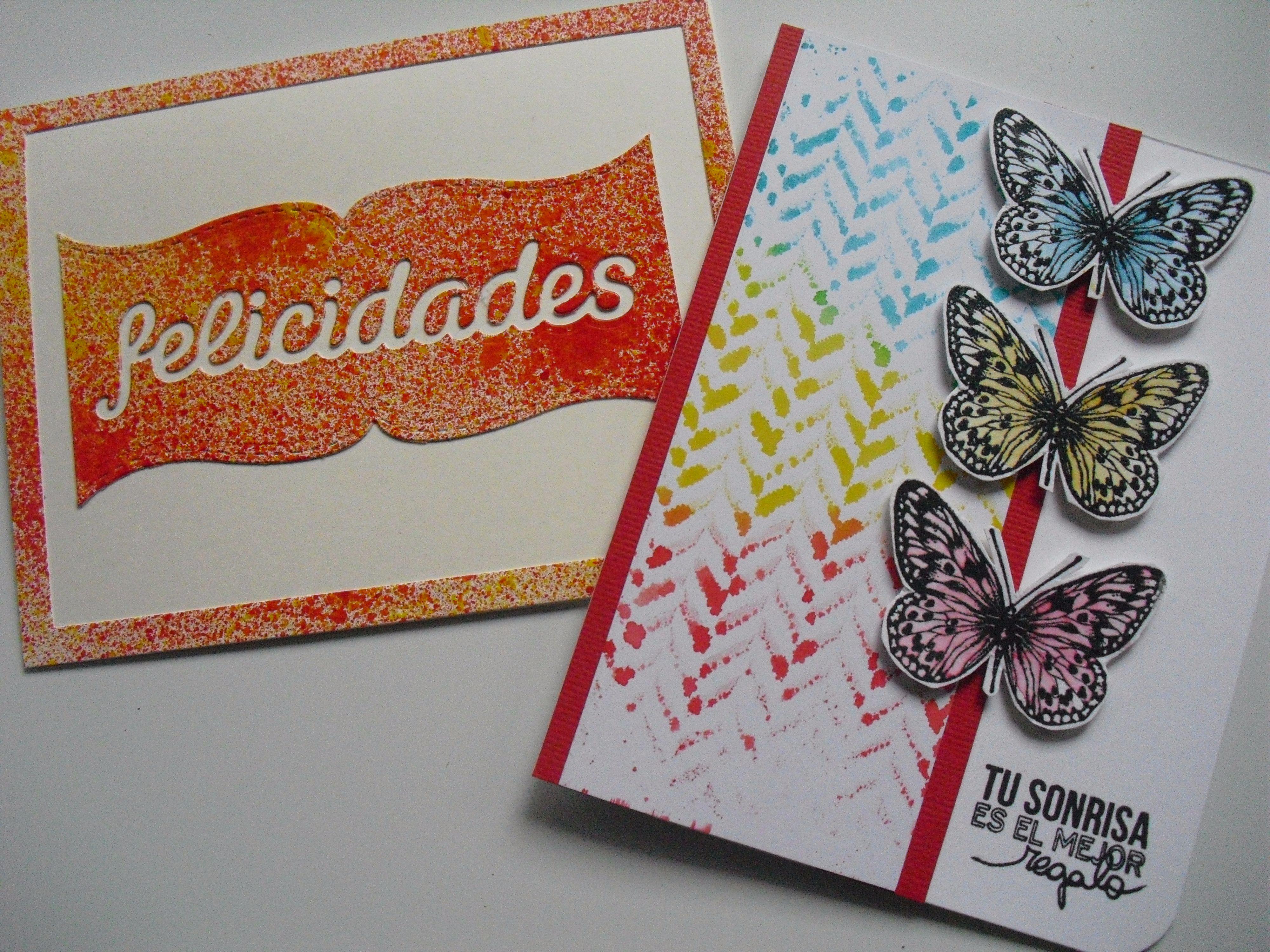 Intercambio de paneles con Isa de Happy cardmaking