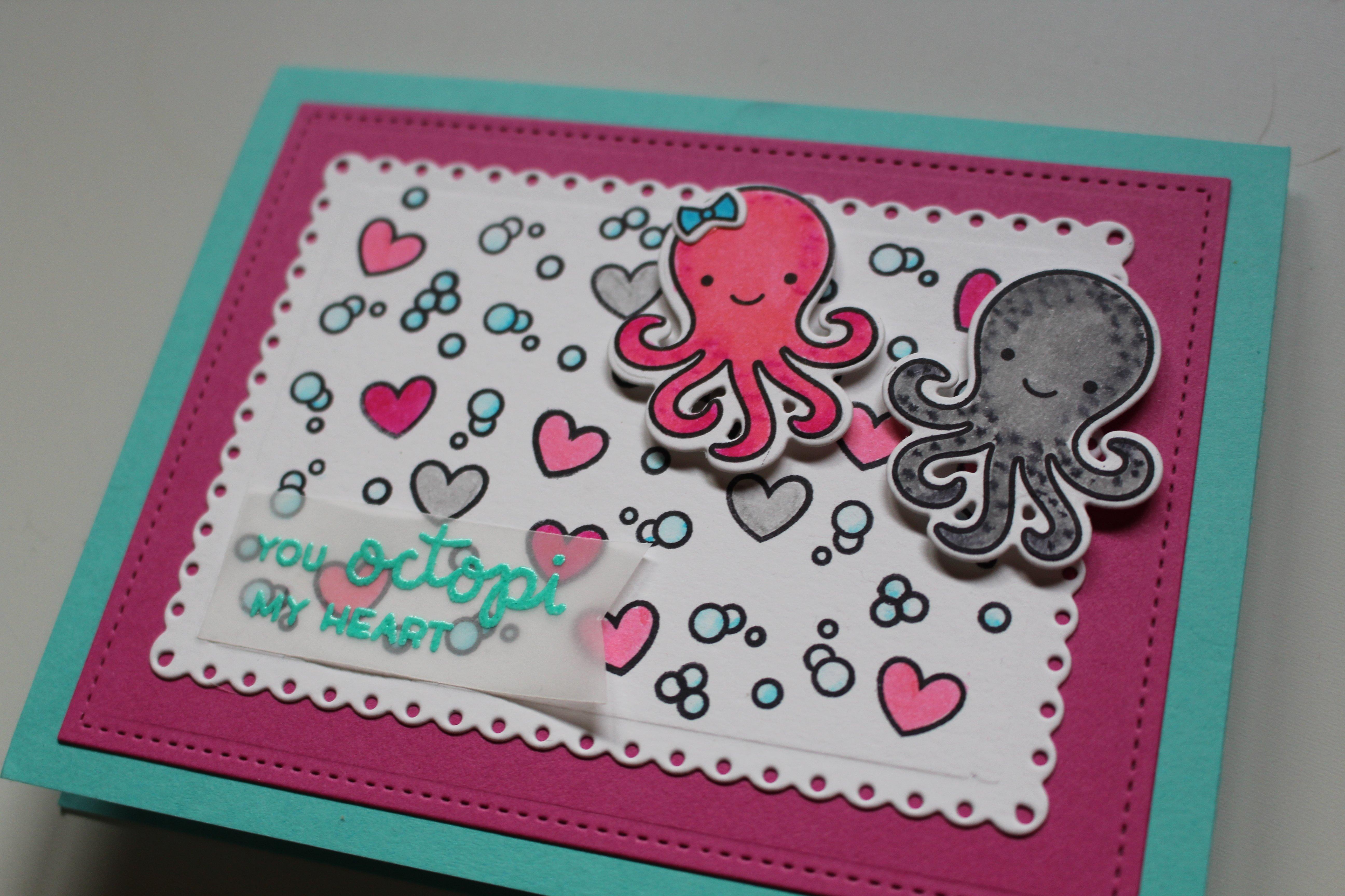 Tarjeta octopi my heart